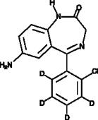 7-<wbr/>Aminoclonazepam-<wbr/>d<sub>4</sub>