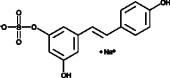 Resveratrol-<wbr/>3-<wbr/>O-<wbr/>Sulfate (sodium salt)