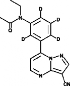 Zaleplon-d<sub>4</sub> (CRM)