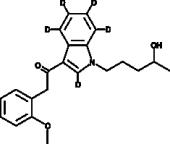 JWH 250 N-<wbr/>(4-<wbr/>hydroxypentyl) metabolite-<wbr/>d<sub>5</sub>