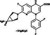 Trovafloxacin (mesylate)