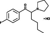 4'-fluoro-α-<wbr/>Pyrrolidino<wbr/>hexano<wbr/>phenone (hydro<wbr>chloride)