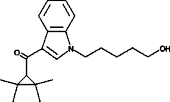 UR-<wbr/>144 N-<wbr/>(5-<wbr/>hydroxypentyl) metabolite