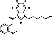JWH 250 N-<wbr/>(5-<wbr/>hydroxypentyl) metabolite-<wbr/>d<sub>5</sub>