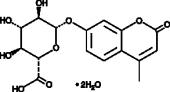 4-Methyl<wbr/>umbelliferyl-<wbr/>?-D-Glucuro<wbr/>nide (hydrate)