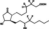 13,14-<wbr/>dihydro-<wbr/>15(R,S)-<wbr/>hydroxy-<wbr/>16,16-<wbr/>difluoro Prostaglandin E<sub>1</sub>-<wbr/>d<sub>4</sub>