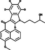 JWH 081 N-<wbr/>(4-<wbr/>hydroxypentyl) metabolite-<wbr/>d<sub>5</sub>