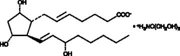 5-<wbr/><em>trans</em> Prostaglandin F<sub>2α</sub> (tromethamine salt)