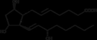 5-<wbr/><em>trans</em> Prostaglandin F<sub>2β</sub>