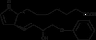 16-<wbr/>phenoxy tetranor Prostaglandin A<sub>2</sub>