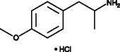 4-<wbr/>Methoxyamphetamine (hydro<wbr>chloride) (exempt preparation)