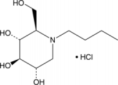 N-Butyldeoxy<wbr/>nojirimycin (hydro<wbr/>chloride)