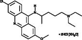 Quinacrine (hydro<wbr/>chloride hydrate)