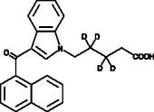 JWH 018 N-<wbr/>pentanoic acid metabolite-<wbr/>d<sub>4</sub>