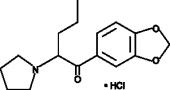 (−)-<wbr/>3,4-Methylene<wbr/>dioxy Pyrovalerone (hydro<wbr>chloride)