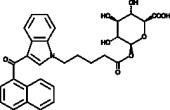 JWH 018 N-<wbr/>pentanoic acid β-<wbr/>D-<wbr/>Glucuronide