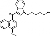JWH 081 N-<wbr/>(5-<wbr/>hydroxypentyl) metabolite