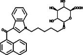 JWH 018 N-<wbr/>(5-<wbr/>hydroxypentyl) β-<wbr/>D-<wbr/>Glucuronide
