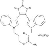 Bisindolyl<wbr/>maleimide IX (mesylate)