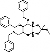 3,4,6-<wbr/>Tri-<wbr/>O-<wbr/>benzyl-<wbr/>β-<wbr/>D-<wbr/>Mannopyranose 1,2-<wbr/>(methyl orthoacetate)