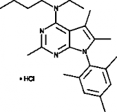Antalarmin (hydro<wbr>chloride)