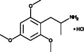 2,4,6-<wbr/>Trimethoxyamphetamine (hydro<wbr>chloride)