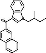 JWH 018 2'-<wbr/>naphthyl-<wbr/>N-<wbr/>(2-<wbr/>methylbutyl) isomer
