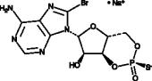 Rp-8-bromo-<wbr/>Cyclic AMPS (sodium salt)