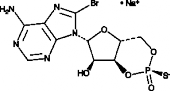 Rp-8-bromo-<wbr/>Cyclic AMPS (sodium salt)