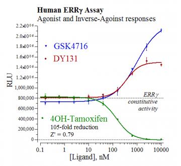 Human ERRγ Reporter Assay System, 3 x 32 assays in 96-well format