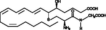 Leukotriene D<sub>4</sub>